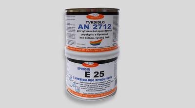 Stěrková hmota Eprosin E 25, bílá, set 535g NEW - 1