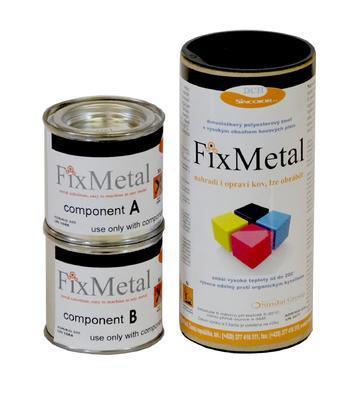 FixMetal Ferro-tixo ČERNÝ, tekutý kov, souprava 200 g  - 1