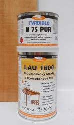 Polyuretanový lak LAU 1600 na dřevo, korek a parkety, lesklý, souprava 1kg - 1