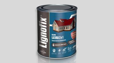 Lignofix LAZURA 3 v 1 - ořech 0,6l - 1