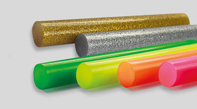 UNIMELT GLITTER - 125g, tavné tyčinky, o 12mm, délka 95mm - 1