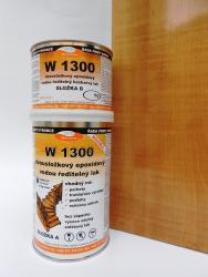 Vodouředitelný 2K epoxidový lak W 1300, lesklý, set 1kg