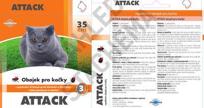 ATTACK obojek pro kočky 35 cm - 2
