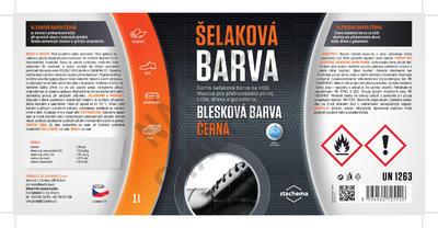 BLESKOVÁ BARVA ČERNÁ - 1L - 2