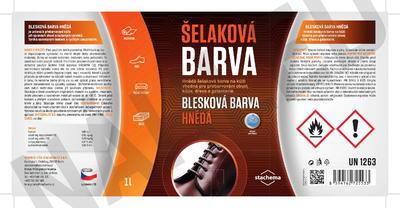 BLESKOVÁ BARVA HNĚDÁ - 1L - 2