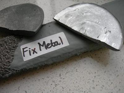 FixMetal Zinek-tixo, tekutý kov, souprava 1 kg  - 2