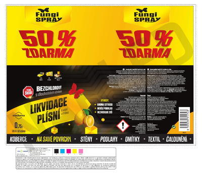 FungiSPRAY - bezchlorový citrus 0,5 l spray - 2
