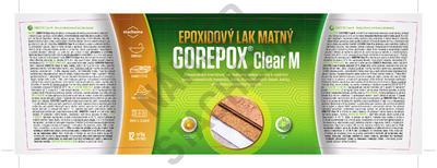 GOREPOX CLEAR M vodouředitelný epoxidový lak matný, set 1kg - 2