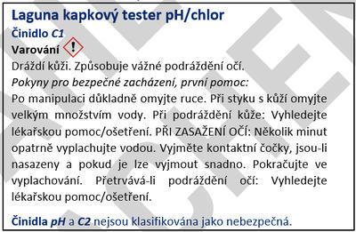 Laguna tester pH/chlor kapkový 120 - 2