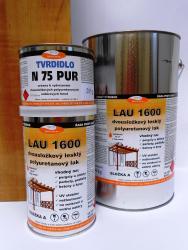 Polyuretanový lak LAU 1600 na dřevo, korek a parkety, lesklý, souprava 1kg - 2
