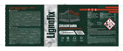 Lignofix ZÁKLADNÍ BARVA - červenohnědá0,6l - 2