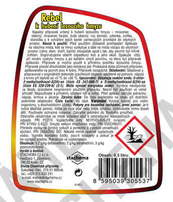 Rebel k hubení lezoucího hmyzu 500 ml - 2