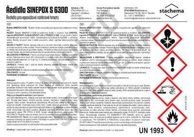 Ředidlo pro epoxidové barvy S6300 9kg - 2
