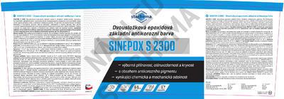 SINEPOX S 2300 antikorozní základ 0840 (červenohnědý) - set 10 kg - 2