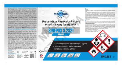 SINEPOX S 2321 na VANY bílý, lesklý - set 1,4 kg - 2
