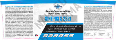 SINEPOX S 2321 ČSN 1000 (bílá), lesklý - set 10 kg - 2
