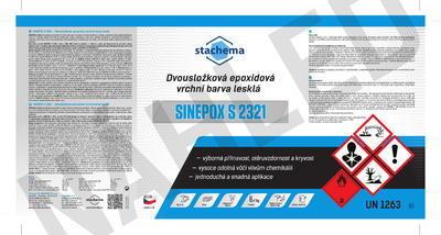 SINEPOX S 2321 ČSN 1999 (černá), lesklý - set 1,4 kg - 2