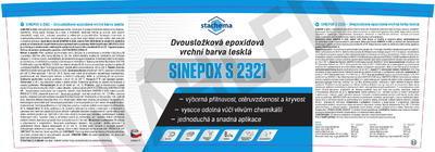 SINEPOX S 2321 ČSN 1010 (šeď pastelová), lesklý - set 5 kg - 2