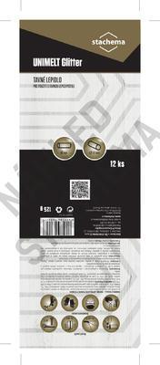 UNIMELT GLITTER - 125g, tavné tyčinky, o 12mm, délka 95mm - 2