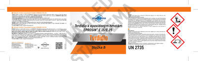 Stěrková hmota Eprosin E 25, bílá, set 535g NEW - 3