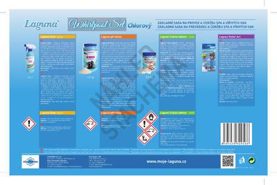 Laguna Whirpool set (Clear spray, pH mínus, tabl. 3v1 mini, tester 4 v 1) 1 ks - 4