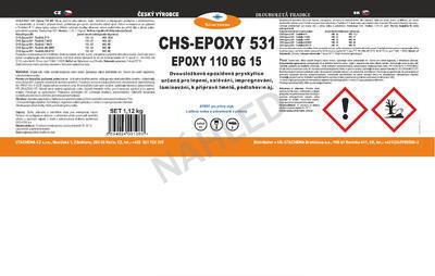 CHS-EPOXY 531 / Epoxy 110 BG 15 s Tvrdidlem AN 2609, souprava 1 kg - 6