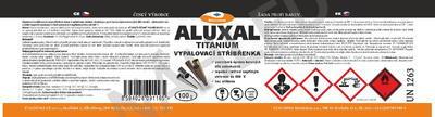Vypalovací stříbřenka Aluxal TITANIUM 1kg - 7