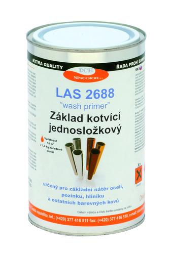 Základní barva na pozink, lehké kovy a nerez LAS 2688 0840 (červenohnědá), reaktivní 1kg