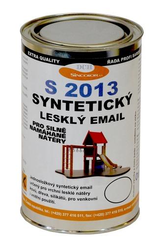 Syntetický vrchní email S 2013 RAL 6005 (mechová zelená), lesklý 1l