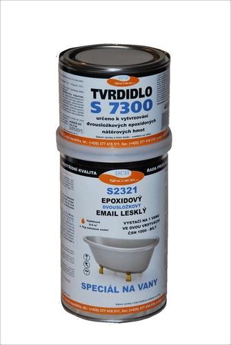 Epoxidový vrchní email na vany - BARVA NA VANY S2321 ČSN 1000 (bílý), lesklý, SET 1,4 kg